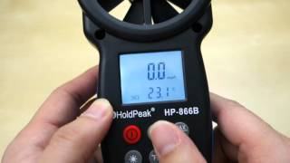Digital Anemometer Thermometer Alat Pengukur Kecepatan Angin HP-866B