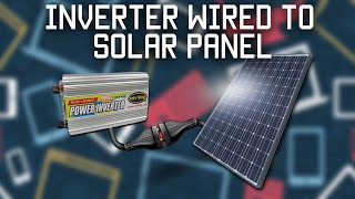 Inverter wired directly to solar panel thumbnail