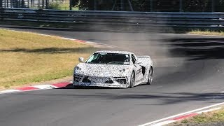 2020 Corvette C8 SPIED TESTING HARD AT THE NURBURGRING! | LAPTIME & ENGINE SOUND