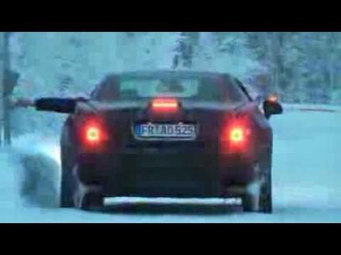 Mercedes SL-Class prototype winter test in Scandinavia