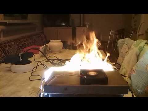 Искусственный огонь. Имитация огня для камина. Заготовка.