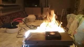 искусственный огонь. Имитация огня для камина. Заготовка