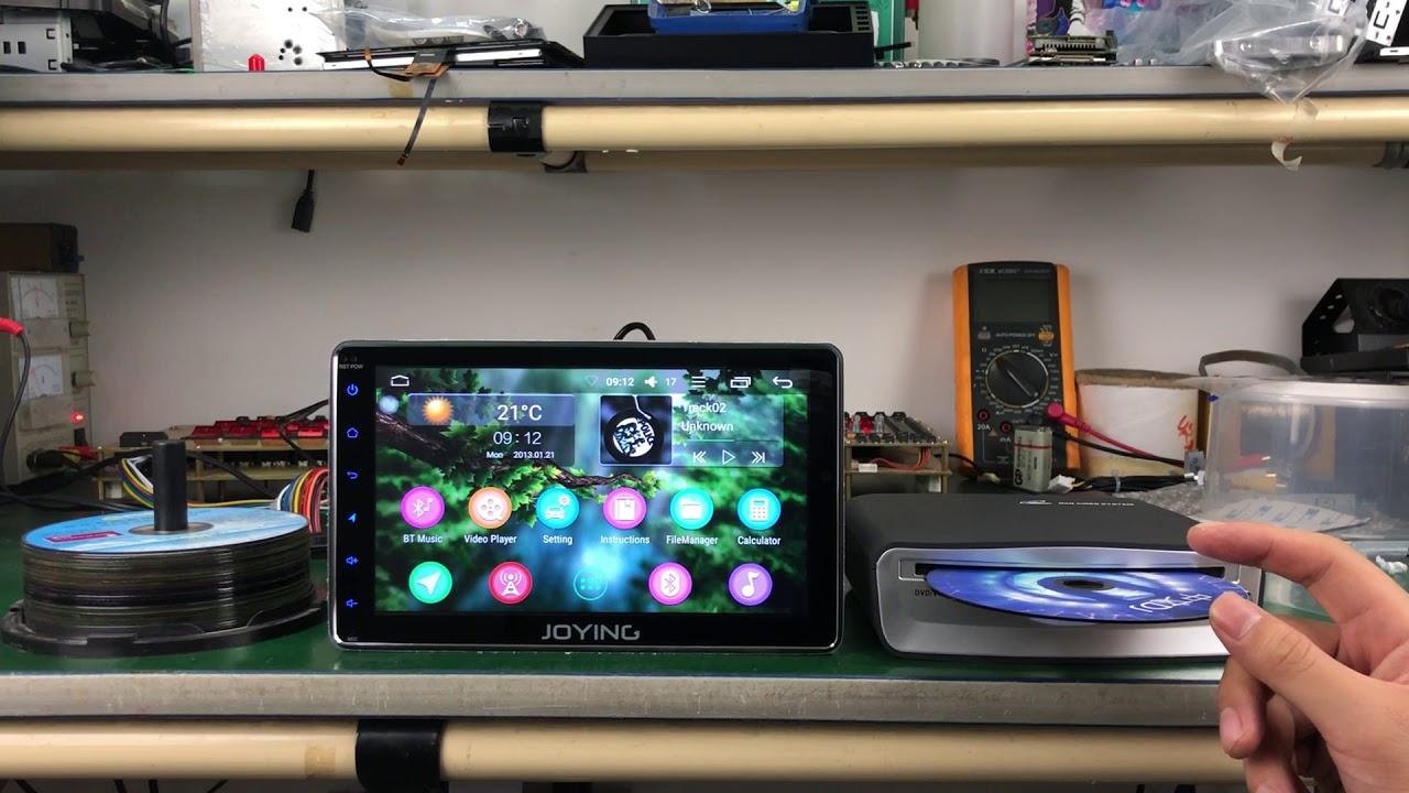 Testing Joying external In Dash USB2 0 DVD Player for Android Head Unit  Autoradio