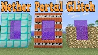 Minecraft Xbox ONE PS4 & Wii U - Custom Nether Portal Glitch (TU33/TU34 Title Update)