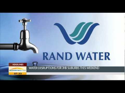 Water interruptions for 100 suburbs around Johannesburg
