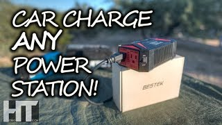 FAST CHARGE Solar Generators From 12v Vehicles EASY! BESTEK 300w Pure Sine Inverter Review
