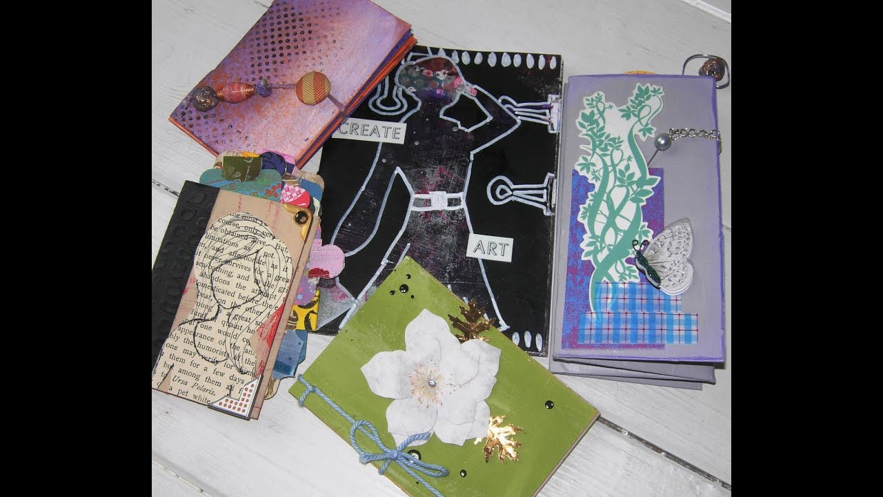 Make A Mini Book From A Recycled Greetings Card Book 3 5 Hole