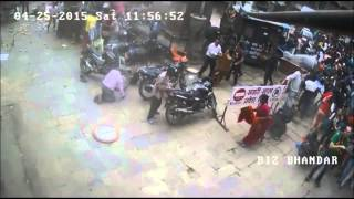 Nepal earthquake 2015 another CCTV footage (unseen)