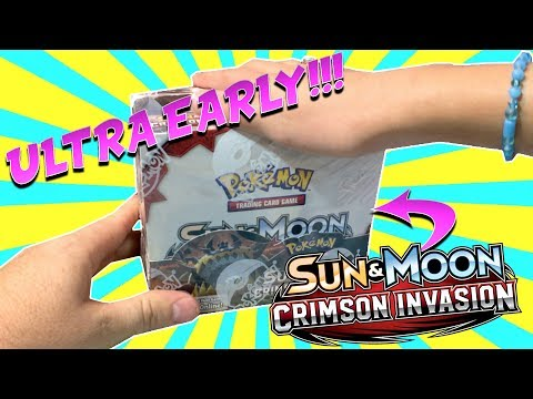 ULTRA EARLY CRIMSION INVASION BOOSTER BOX OPENING!!!