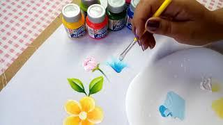 Pintura En Tela Para Principiantes Material Básico Para Pintar Flores