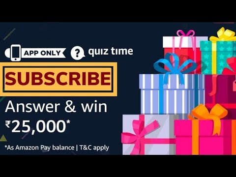 AMAZON QUIZ Answers Today Win ₹25000 | 22 March