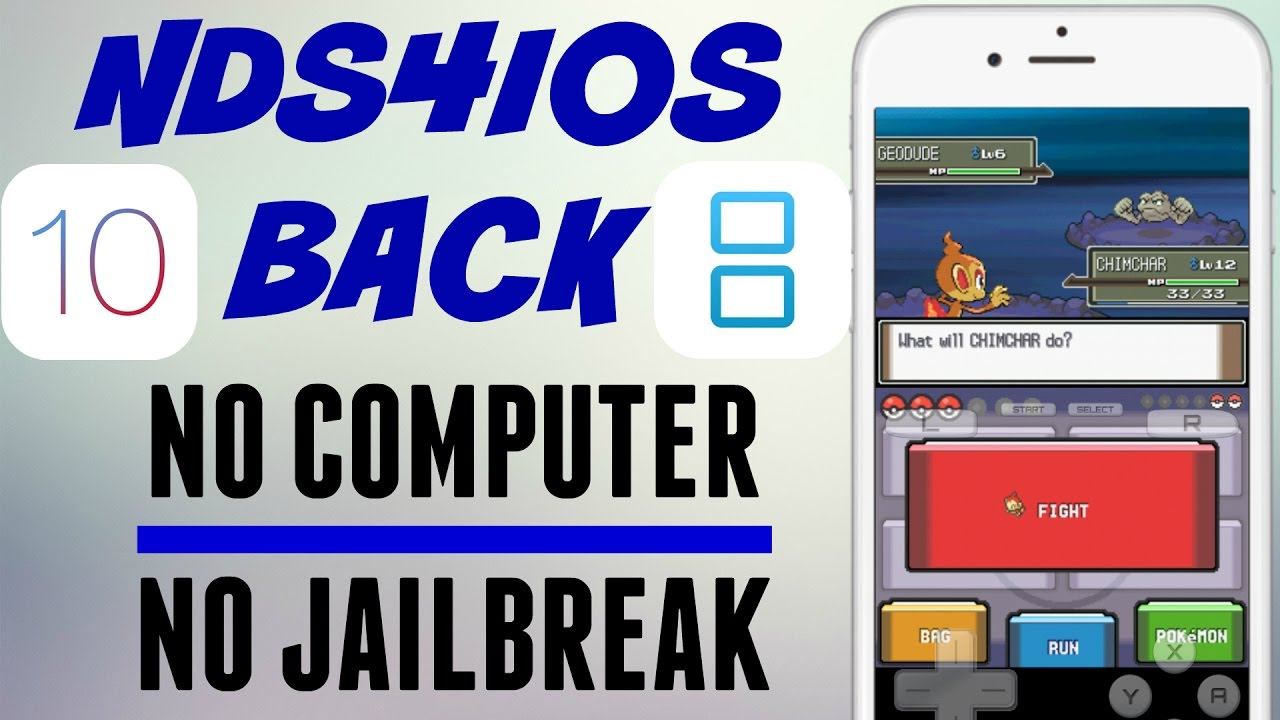 Ds emulator ios without jailbreak | How to Install GBA4iOS Emulator