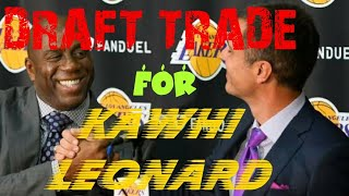 LA Lakers 2018 NBA Draft picks likely Kawhi Leonard Spurs trade bait Lebron James Paul George recap