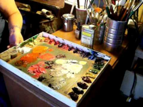 Palettes for Oil painting - YouTube