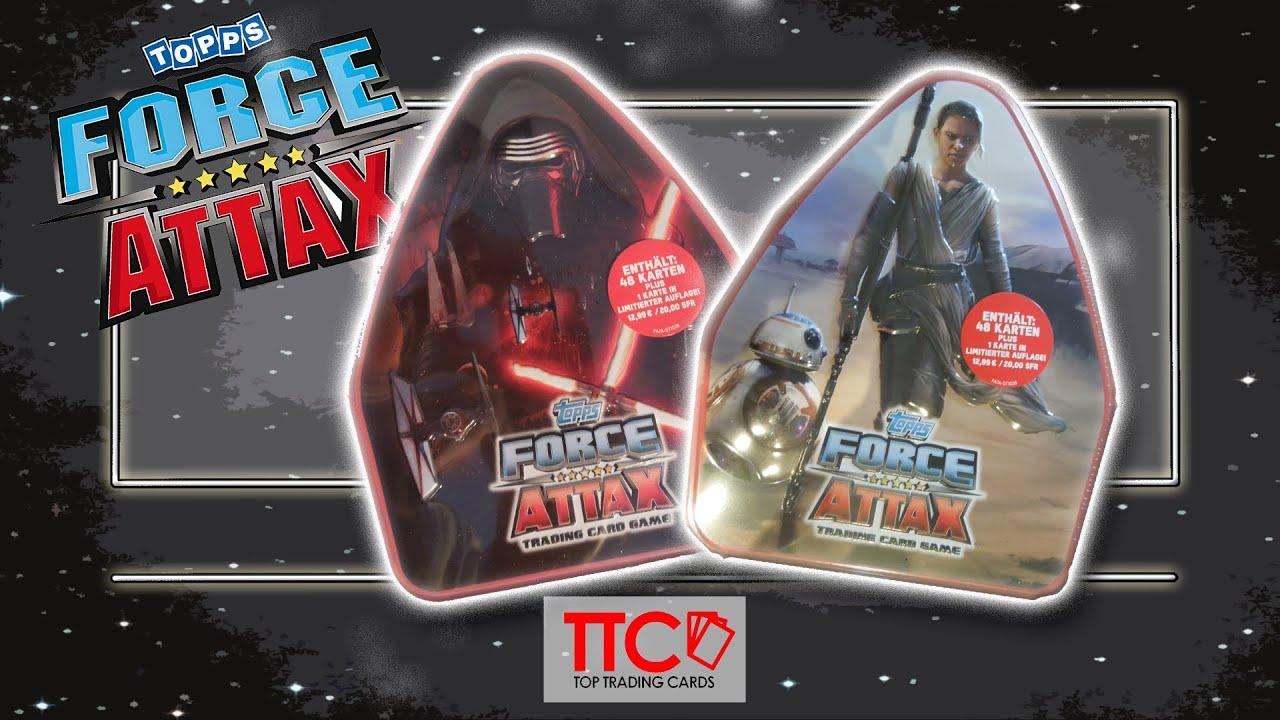 Star Wars Karte.Star Wars Force Attax Kylo Ren Vs Rey Tin Battle