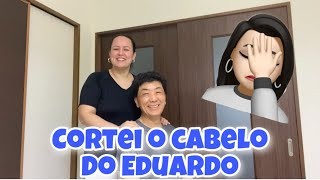 CORTANDO O CABELO DO EDUARDO | SERÁ QUE DEU CERTO 😳