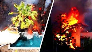 Вулкан выжигает лавой все на своем пути. Ситуация на Канарских островах