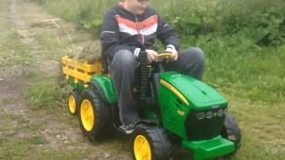 видео Детский электромобиль-экскаватор Peg-Perego John Deere Ground Loader