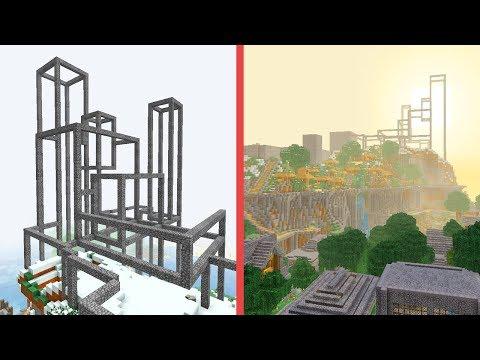 Minecraft Building w/ BdoubleO :: The Wire Frame! #462