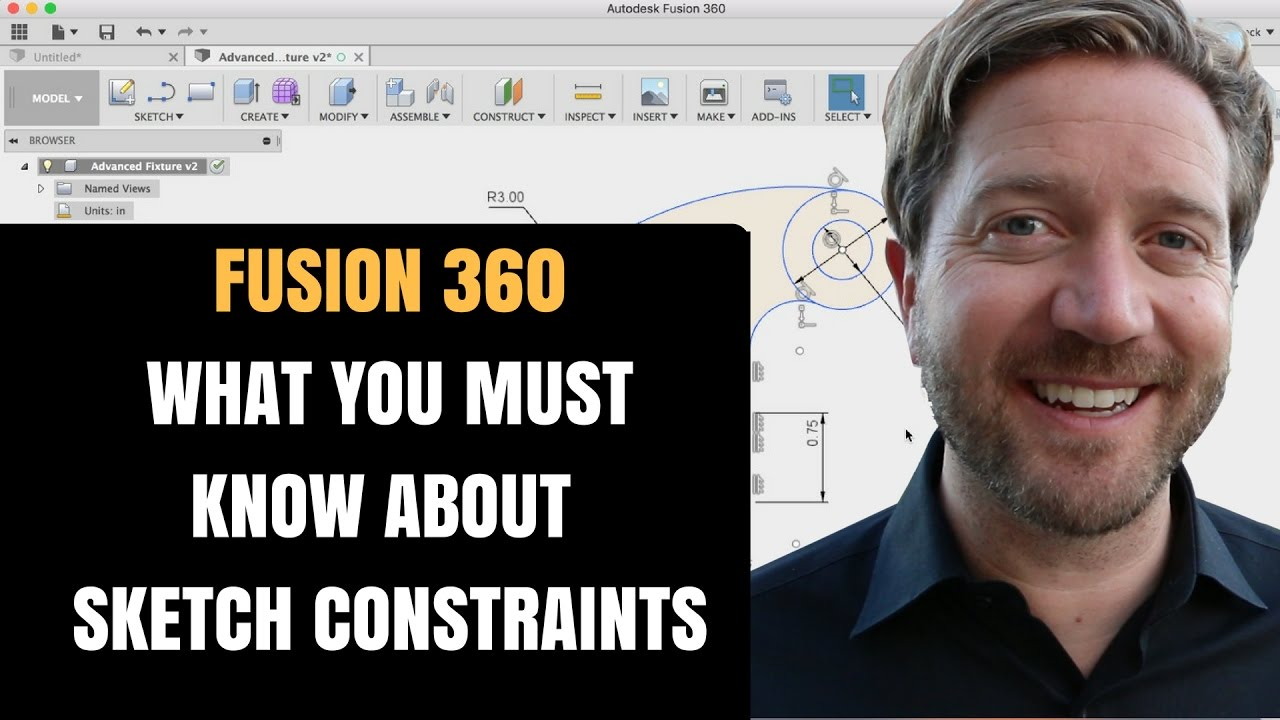 Fusion 360 Constraints - Sketch Constraints Are The Key To Better Models!