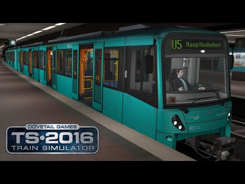 U Bahn Frankfurt | U5 zum Hauptbahnhof | Train Simulator 2016