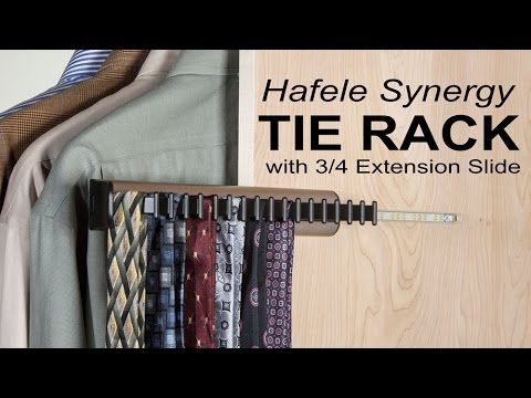 Easy Access to Ties and Accessories   Hafele Synergy Tie Rack
