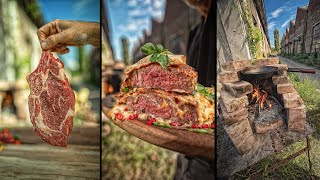 ULTIMATE ?PIZZA-STEAK? - COOKING AT RUINED FACTORY ?