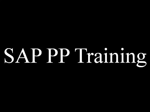 SAP PP Training - Work Center (Video 5) | SAP PP Production Planning