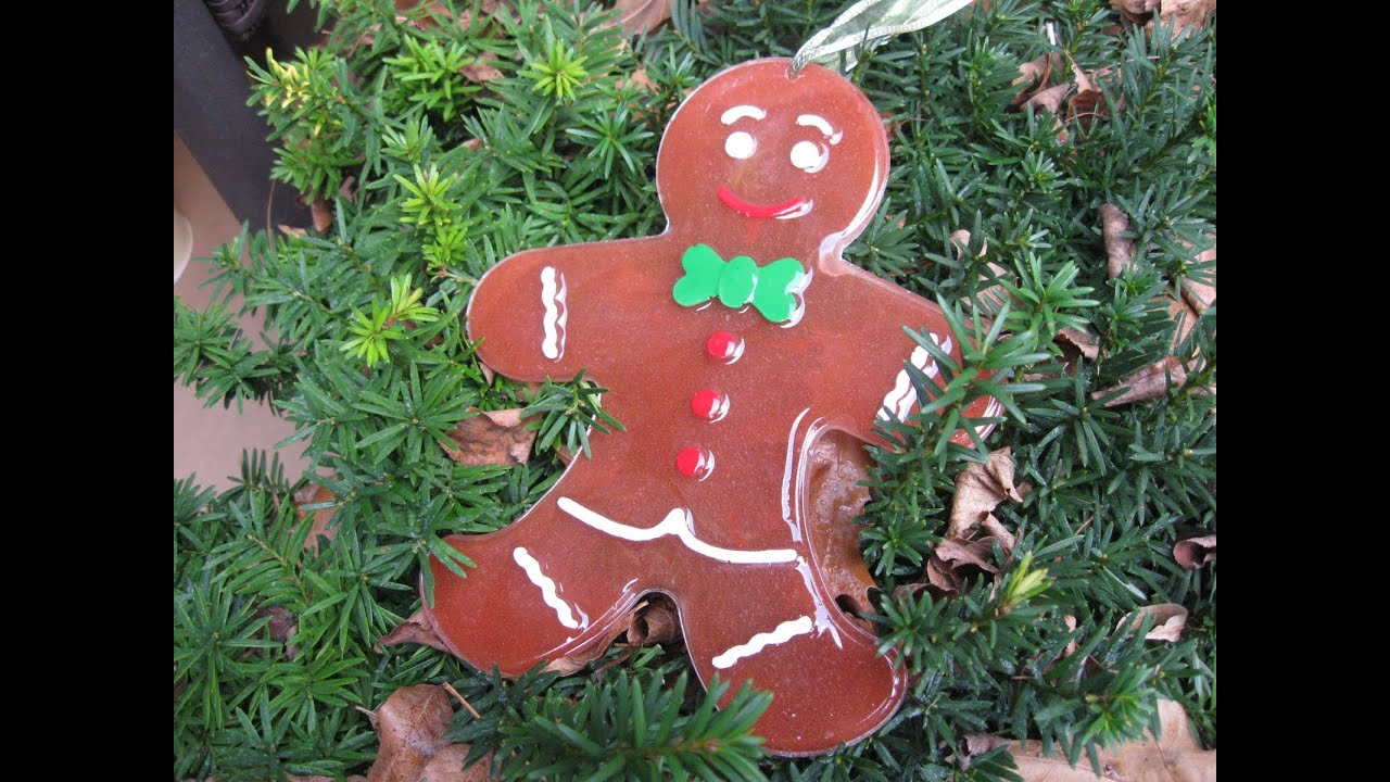 big resin gingerbread man christmas decoration