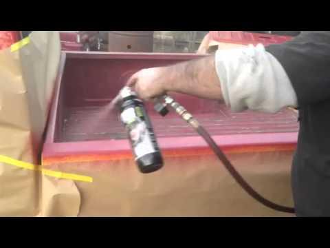 Spray Bed Liner >> Spraying color match raptor liner - YouTube