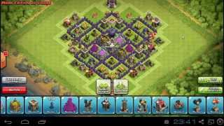 clash of clans : meilleure defense hdv 7 de farm