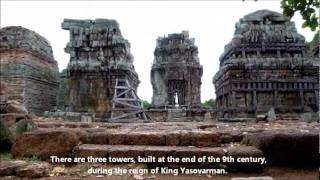 Cambodia Phnom Krom 湖畔の丘にそびえる遺跡「プノンクロム」