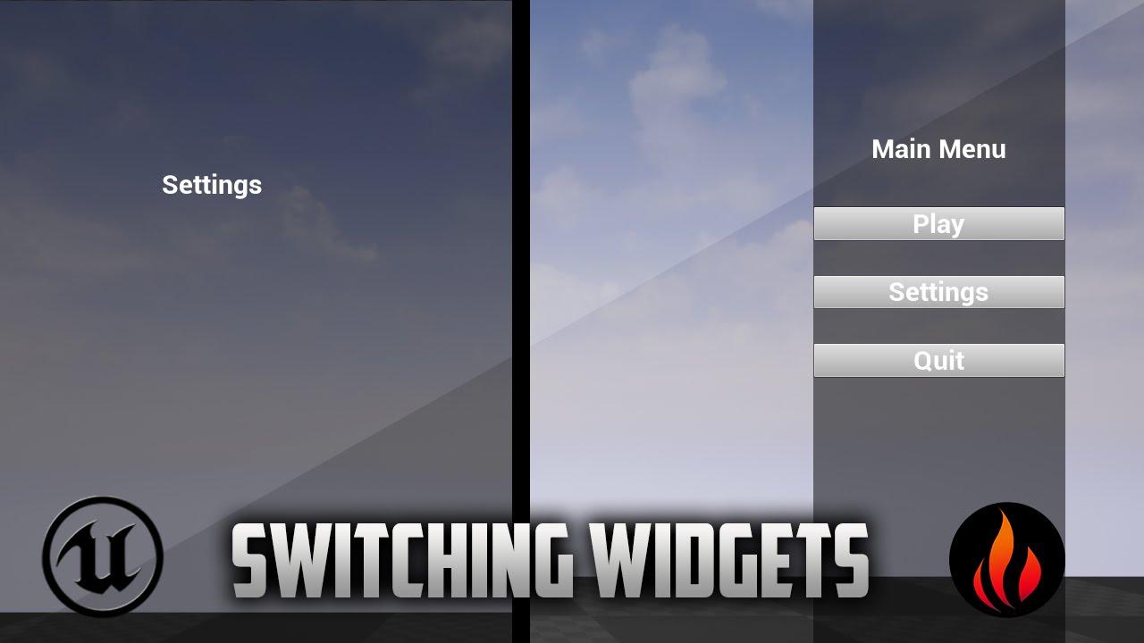 Unreal Engine 4 - Switch Between widgets correctly