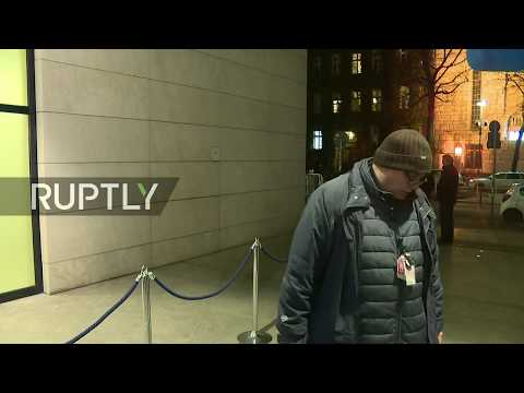 LIVE: CDU, CSU, SPD continue coalition talks in Berlin: live outside