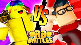 TOFUU vs HYPER - ¡Campeón de Batallas RB por 1 millón de Robux! (Roblox construir un barco para el tesoro)