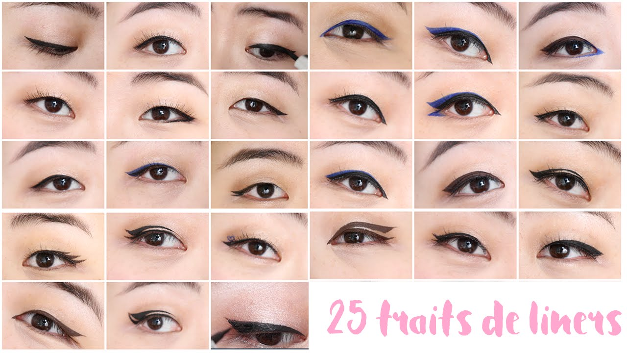 Préférence How To • 25 traits de liners différents | Eyeliner Styles - YouTube UJ78