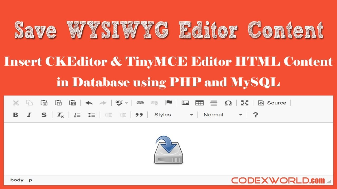 Save WYSIWYG Editor Content in Database using PHP and MySQL - CodexWorld