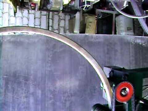 Гибка трубы 30х30 в кольцо.AVI