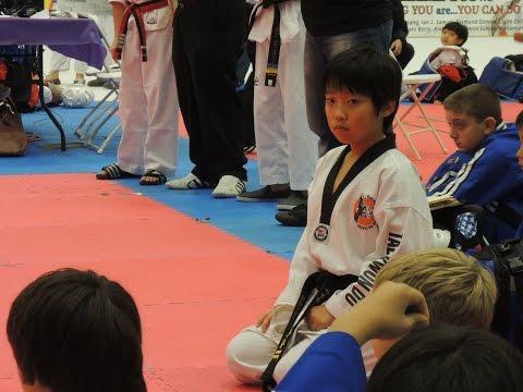 Jin Tae Kim - Taekwondo - 11 year old boy kid - 2 Dan Black Belt
