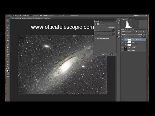 Lezione di Astrofotografia: Video Tutorial - Galassia di Andromeda