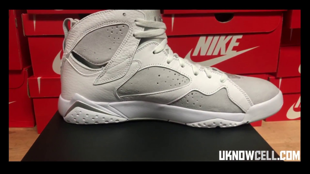 LETS KICK IT Jordan Retro 7 White Metallic Silver Releasing 05 27 17
