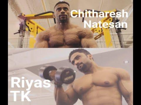 Chitharesh Natesan and Riyas TK workout and posing