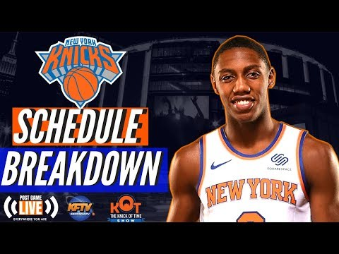 super popular fcbfa 80a72 Knicks 2019 - 2020 Schedule Overview | Porzingis return to NY | Knicks To  Battle Nets in Brooklyn