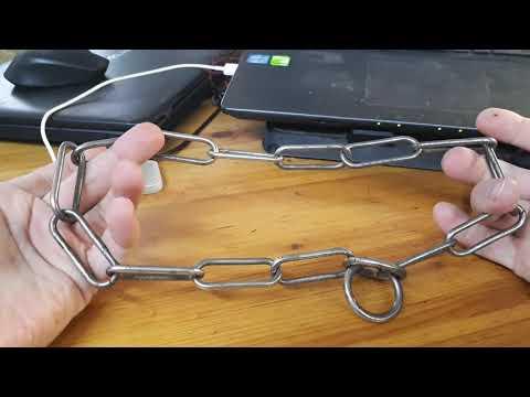 Ошейник из цепи для собак своими руками