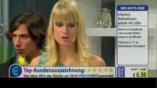 Schrottverkauf im Fernsehen: Seifenblasenpistole mit LEDs