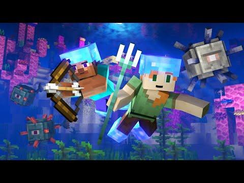 OCEAN MONUMENT - Alex and Steve Life (Minecraft Animation)