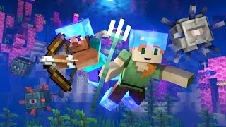 OCEAN MONUMENT - Alex and Steve Life (Minecraft Animation)