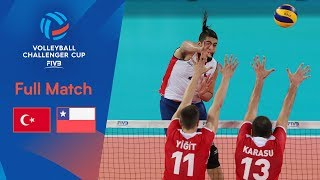 TURKEY vs CHILE | Full Match | 2019 FIVB Men's Volleyball Challenger Cup