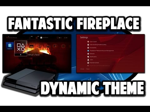 [PS4 THEMES] Fantastic Fireplace Dynamic Theme Video In 60FPS