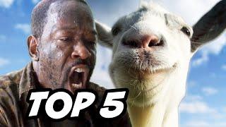 Walking Dead Season 6 Episode 4 - TOP 5 WTF Jedi Goats